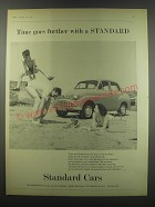1957 Standard Car Advertisement - Time goes further with a Standard