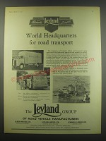 1957 Leyland Motors Ad - Albion Clydesdale, Royal Tiger Worldmaster, Contructor