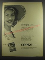 1957 Cooks and Dean and Dawson Ad - Would you like a free copy of Holidaymaking?