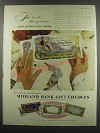 1957 Midland Bank Gift Cheques Ad - The bride.. The groom