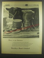 1957 Barclays Bank Advertisement