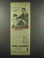 1957 Abbey National Advertisement - Portrait of a man who invested in safety