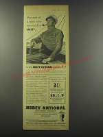 1957 Abbey National Ad - Portrait of a man who invested in safety