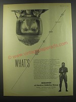 1957 Hawker Siddeley Group Ad - What's up at zero gravity