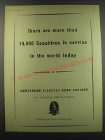 1957 Armstrong Siddeley Aero Engines Ad - There are more than 10,000 sappphires