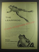 1957 Hawker Siddeley Group Ad - The leapfrog