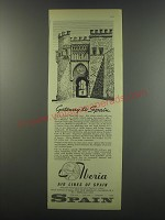 1957 Iberia Airlines Ad - Gateway to Spain
