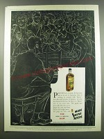 1957 Myers Rum Ad - Parties are occasions for harmony