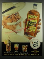 1957 Myers Rum Ad - Make Mine Myers