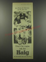 1957 Haig Scotch Ad - Best wishes for Christmas and the New Year