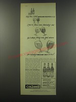 1957 Cinzano Vermouth Ad - Every time I drink Cinzano Bianco (from Italy)