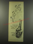 1957 Vat 69 Scotch Ad - Every man has a double when it's Vat 69