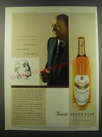 1957 Grants Stand Fast Scotch Ad - decide how to drink whisky in the open air