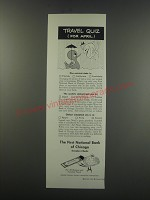 1957 The First National Bank of Chicago Ad - Travel quiz (for April)