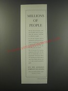 1957 Sun Life Assurance Company of Canada Ad - Millions of people