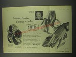 1957 Smiths B.318 and A.358 watches Advertisement - Alicia Markova