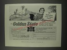 1957 Rock Island Railroad Ad - The Golden State
