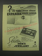 1957 Stratton Expanda Cuff Links Ad - do you wear these expanda cuff links