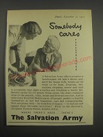 1957 The Salvation Army Ad - Somebody cares