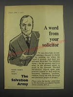 1957 The Salvation Army Ad - A word from your solicitor