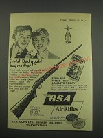 1957 BSA Air Rifles Ad - Wish dad would buy me that