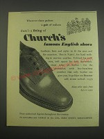 1957 Church's Cairn Shoes Ad - Wherever there gathers a gait of walkers