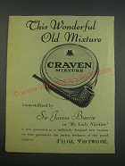1957 Craven Mixture Tobacco Ad - This wonderful old mixture