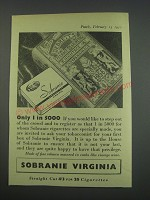 1957 Sobranie Virginia Cigarettes Ad - Only 1 in 5000