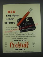 1957 Sobranie Cocktail Cigarettes Ad - Red and four other colours