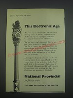 1957 National Provincial Bank Ad - This Electronic Age
