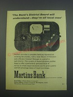 1957 Martins Bank Ad - The Bank's district board will understand