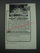 1957 West Virginia Industrial & Publicity Commission Ad - This year shoot
