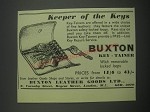 1957 Buxton Key-Tainer Ad - Keeper of the keys