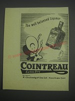 1957 Cointreau Liqueur Ad - The well balanced liqueur