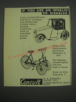 1957 R.A. Harding Ad - If you are an invalid or disabled