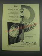 1955 Longines Watch Ad - Time out of mind