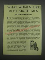 1955 Prince Gourielli Toilet Preparations for men Ad - What women like most