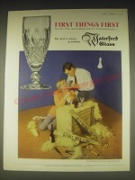 1962 Waterford Glass Advertisement - First things first