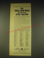 1962 Hilton Hotels Ad - Travel a new world see the U.S.A. stay Hilton