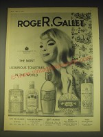 1962 Roger & Gallet Toiletries Ad - The most luxurious toiletries in the world