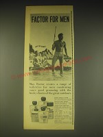 1962 Max Factor Toiletries for Men Advertisement - Fatal for Women