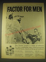 1962 Max Factor Toiletries for Men Ad - Factor for Men Fatal for Women