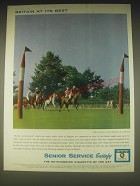 1962 Senior Service Cigarettes Ad - Britain at its best Polo at Woolmers Park