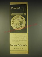 1962 Balkan Sobranie Virginia No. 10 Tobacco Ad - Fragrant