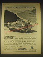 1962 MG Midget Ad - Safety fast motoring is the safest of all