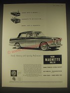 1962 MG Magnette MK. IV Car Ad - Family motoring with Sporting performance