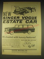 1962 Singer Vogue Estate Car Ad - It's loaded with luxury features
