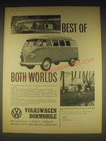 1962 Volkswagen Dormobile Ad - Best of both worlds
