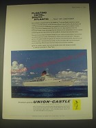 1962 Union-Castle Cruise Ad - Floating hotel, South Atlantic