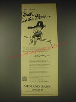 1962 Midland Bank Ad - Youth at the prow